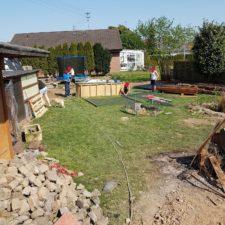 Umbau des Gartens - einmal alles platt machen